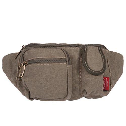 Canvas-Bauchtasche | Damen & Herren | Gürteltasche | Umhänge-Tasche | Designer Brusttasche