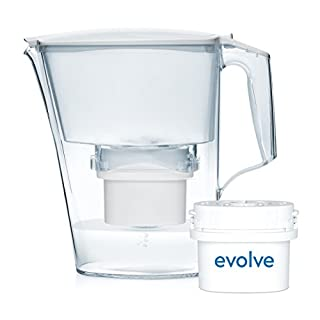 Aqua Optima Liscia Filter Jug with 1 x 30 Day Evolve filter  - 1 Month Pack - White
