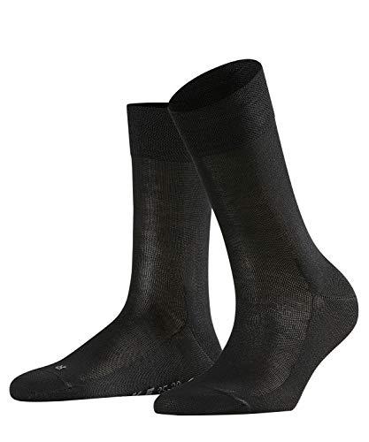 FALKE Damen Sensitive Malaga W SO Hochwertige Baumwolle Socken, Blickdicht, Schwarz (Black 3009), 39-42