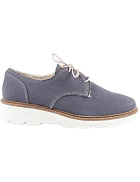 Slowers Geac537, Scarpe Stringate Derby Donna, Grigio (Gray), 38 EU