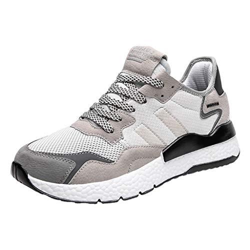 CUTUDE Herren Laufschuhe Air Atmungsaktive Turnschuhe Running Fitness Sneaker Outdoors Athletisch Sneaker Reiseschuhe Freizeitschuhe - Viele Farben 39EU -44 EU (Weiß, 46 EU)