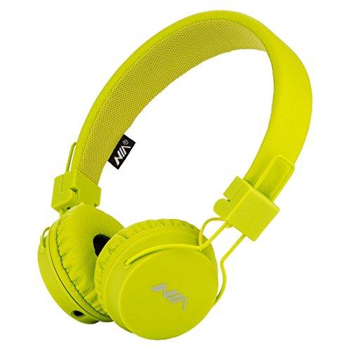 Termichy Wired Kinder Kopfhörer Faltbarer On-Ear Hifi Stereo Headset mit Inline-Control Abnehmbare 3,5mm Klinkenstecker Audio Kabel (Green)