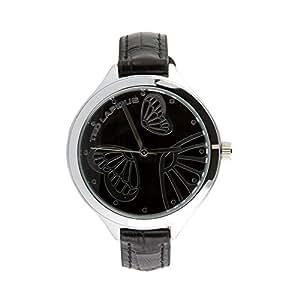 Ted Lapidus A0655ANPN–Montre, Bracelet en Cuir Couleur Noir