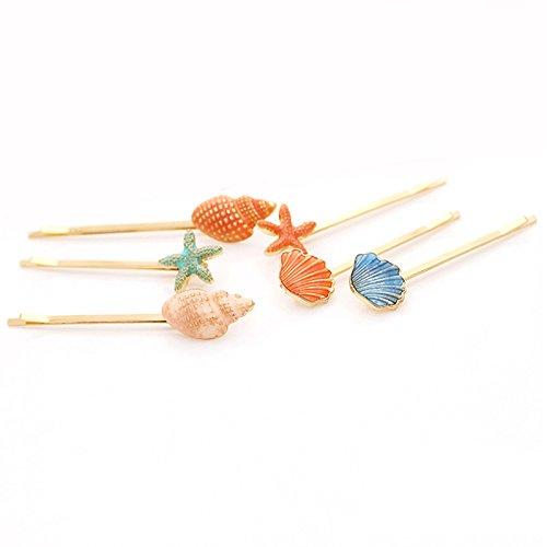 4pcs épingle à cheveux coquillages de mer poissons et fruits de mer poils clips coréenne rétro côté clip accessoires pour cheveux accessoires livraison aléatoire Bobury
