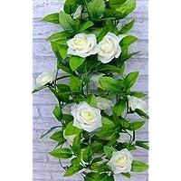RuiChy Guirlande de roses artificielles Aspect plante grimpante Coloré