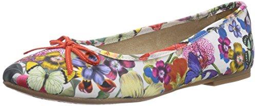 s.Oliver - 22103, Ballerine Donna Multicolore (Mehrfarbig (Flower Multi 990))