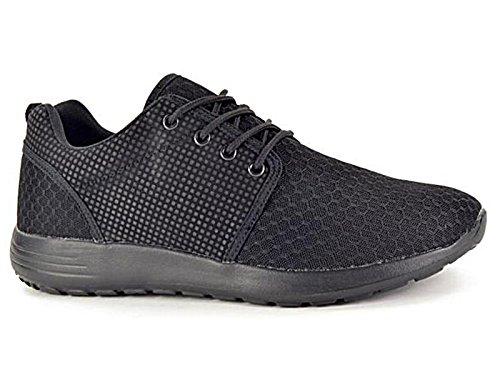 Los Malla 11 Negro Zapatillas De De Zapatos Netos De De 6 Confortar Hombres Deportes Casual Los Gimnasio Cordones Ligero Corrientes ER6UwAFqHx