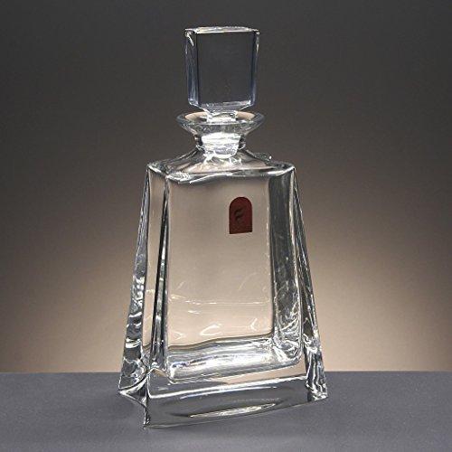 Glasflasche, Dekanter, Karaffe, für Whisky und Spirituosen, Böhmen, Kollektion Flat, 27 cm. Höhe.