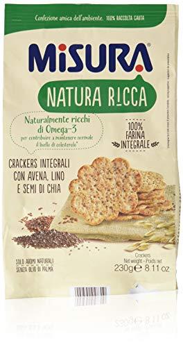 Misura Crackers con Avena, Lino e Semi di Papavero - 230 g