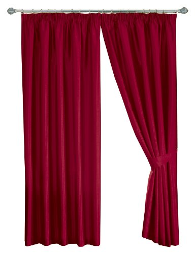 Mason Gray Dreams 'n' Drapes Java Red Eyelet Lined Curtain 90×108