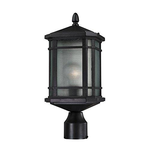 Lowell 1 Light Outdoor Post Lantern In Matte Black - Matte Black Outdoor Post