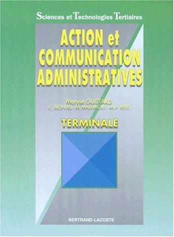 Action et communication, terminale STT