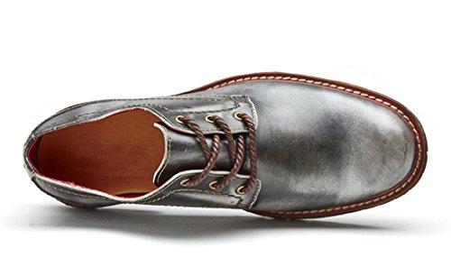 TDA , Chaussures à lacets homme Argent/Gris
