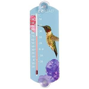 Gegenwind Consumer Produkte 840–0044Innen/Außen-Thermometer mit Kolibri, 25,4cm