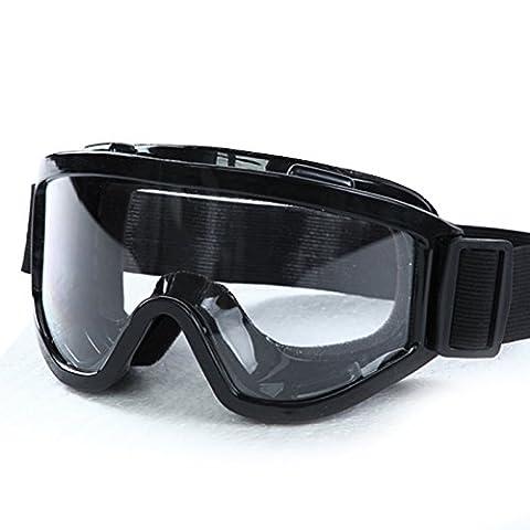 Masque de ski avec serpillère en microfibre Noir