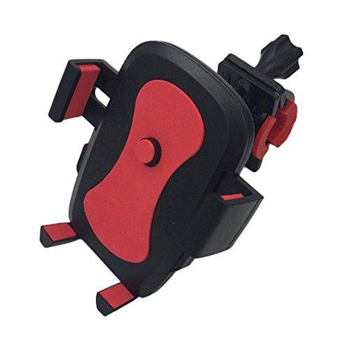 Fahrrad-Telefon-Halterung, Fahrrad-Halter, Universal Cell Phone Bicycle Rack, Lenker und Motorrad Halter Cradle Clamp für IOS Android Smartphone , red
