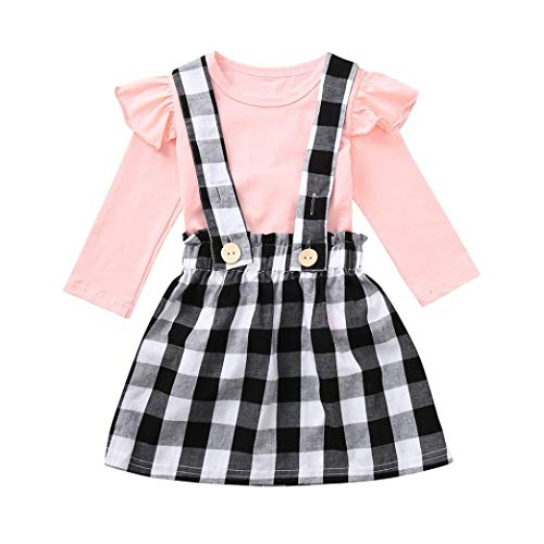 sunnymi Für 0-5 Jahre Tops + Hosen Baby Mädchen Kürbis Halloween Kostüm Outfits (3 Jahre, Rosa) (Junge Twin-halloween-kostüm-ideen Mädchen)