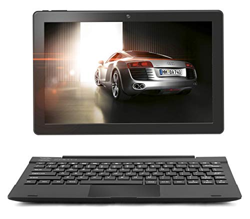 2in1 10.1' Inch Google Laptop Tablet PC - Android 7.0 - 16 GB Expandable up to 128GB, Quad Core processor, WiFi, Bluetooth, IPS HD Screen, Google Play, FULL USB, Keyboard Case included in Bundle Zaith