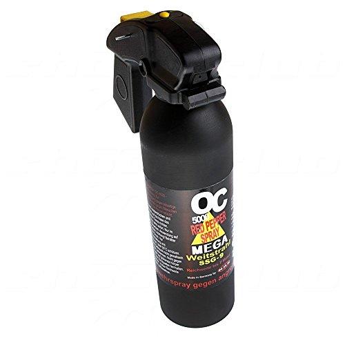 Pfefferspray OC 5000 Mega Weitstrahl 400 ml, SSG-9 (510054)