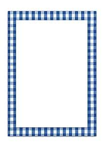 25 blatt briefpapier druckerpapier blau wei kariert einseitig bedruckt rahmen 100g. Black Bedroom Furniture Sets. Home Design Ideas