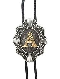 Scheppend Clásico Chapado en oro Letras Mayúsculas Vaquero Occidental Corbata de Bolo