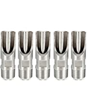 Generic 5Pcs 1/2 Inch Stainless Steel Pig Automatic Nipple Drinker Feeder Duck-Billed Water