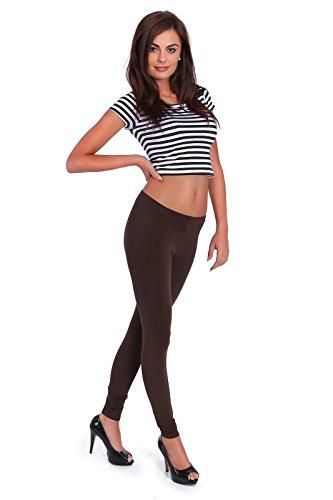 futuro fashion Leggings longueur maxi tous coloris actif pantalon sport pantalon 8391 Marron