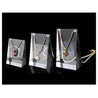 Modern Clear Acrylic Display Stands For Trade Shows Exhibition (Necklace Stands 3 PC Set)