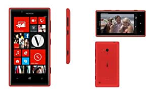 Nokia Lumia 720 Smartphone Windows Bluetooth WiFi USB Rouge