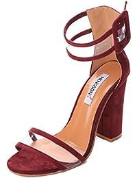 HENGSONG Femme Eté Sandales à Talons Épais Talons Hauts Chaussures Sandales