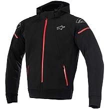 Alpinestars Moto Chaqueta Sector Tech Hoodie negro/rojo, L