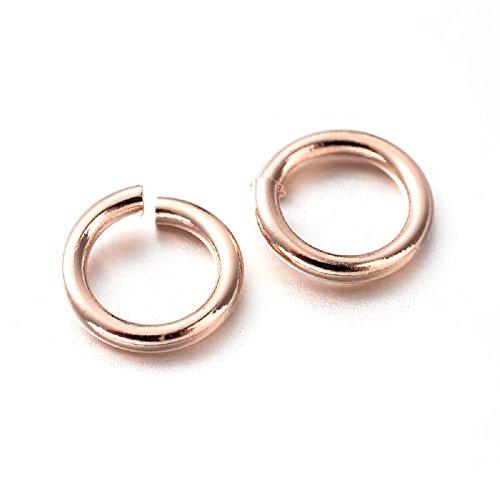L'attrape-rêve anneaux de jonction ouverts en laiton couleur or rose 1 lot de 25 diamètre 6mm épaisseur 0,8 mm livraison gratuite