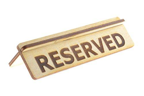 Origin - Reserved Tischschild für Restaurants aus Sperrholz, flach verpackt zur einfachen Montage