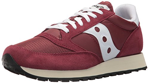 Saucony Jazz Original Vintage, Zapatillas de Cross Unisex Adulto, Morado (Burgundy/White 11), 46 EU