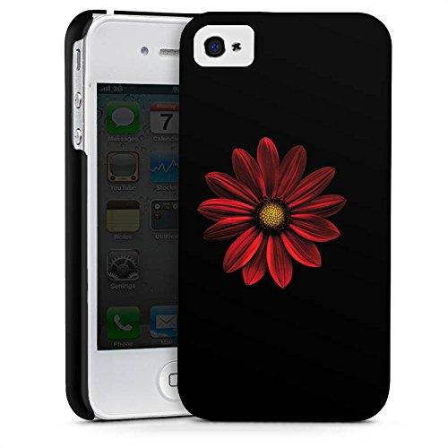 Apple iPhone X Silikon Hülle Case Schutzhülle Blume Rot Muster Premium Case glänzend