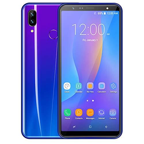 FSM88 3G Android-Handy, 6,0 Zoll 2MP + 5MP Pixel Gesichtserkennungs-Farbverlauf 6,8 Mm Ultradünnes Smartphone 1 GB RAM + 16 GB ROM,Purple 2300-serie-ram