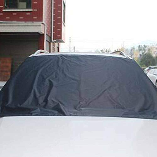 Funnyrunstore voiture protection extérieure neige bloqué voiture neige glace protecteur visière soleil ombre Fornt arrière pare-brise couverture bloc boucliers (noir)