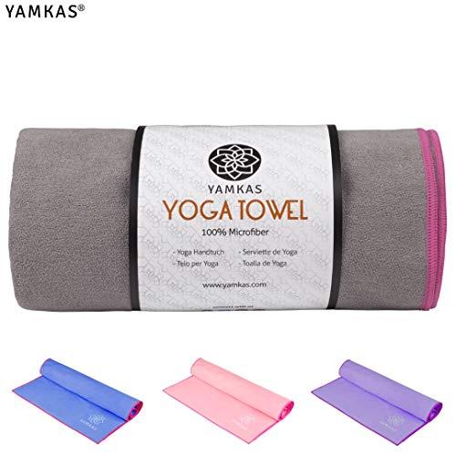 Yamkas Hot Yoga Handtuch Rutschfest – Yogatuch Antirutsch fur Matte, Yoga Towel