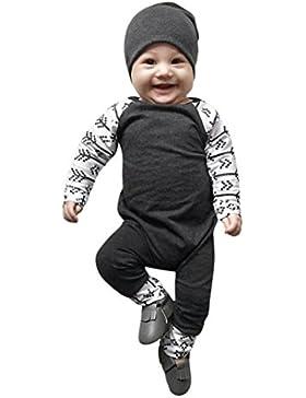 Longra Neugeborenes Baby Jungen Strampler Spielanzug Baumwolle Langarm Baby Overall Outfits Unisex Kleinkinder...