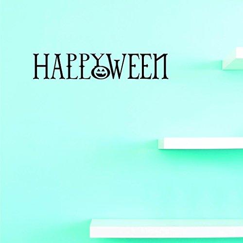Design mit Vinyl V US V Jer 30832A Top Verkauf Aufkleber Happy Halloween Art Wand Größe: 30,5x 76,2cm Farbe, 30,5x 76,2cm - Arten Zwei Halloween
