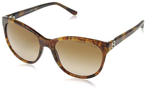 Ralph lauren donna 0rl81351713 occhiali da sole, marrone (jl havana/gradientbrown), 56