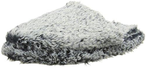 Eaze Damen Fur Mule Slipper Hausschuhe Grau