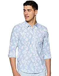 Pepe Jeans Men's Floral Regular fit Casual Shirt