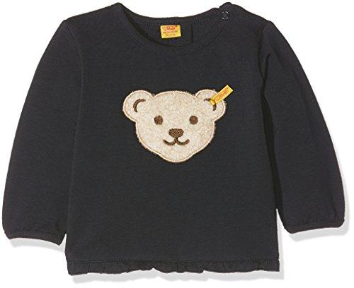 Steiff Baby-Mädchen Sweatshirt 1/1 Arm, Blau (Marine 3032), 68