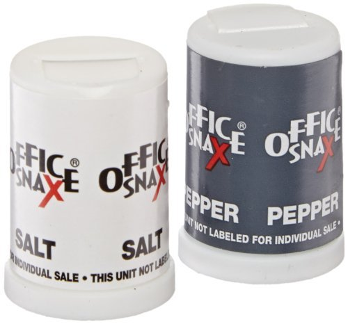 Office Snax OFX00056 Mini Salt and Pepper Shaker Set (Pack of 3 Sets) by Office Snax