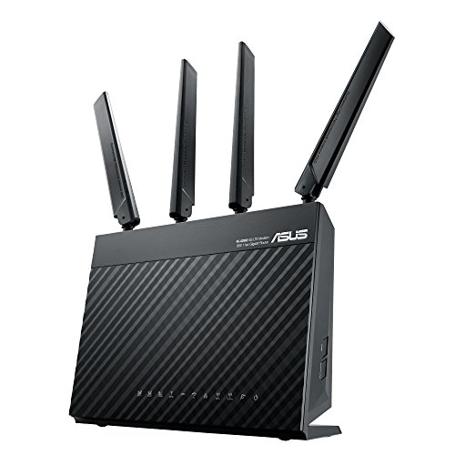 Price comparison product image ASUS 4G-AC68U AC1900 LTE Modem Router,  SIM Card Slot,  Cat 6,  Downlink 300 Mbps,  5 GbE Ports,  USB 3.0,  VPN Server,  Black
