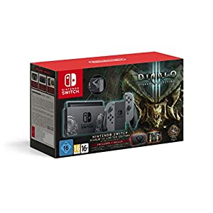 Nintendo – Nintendo Switch Limited Edition Diablo III Console with Grey Joy-Con + Diablo III DLC (UK) /Switch (1 GAMES)
