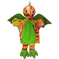 ABA 31 cm, colore: arcobaleno a mano a forma di drago, colore: verde - Mano Drago