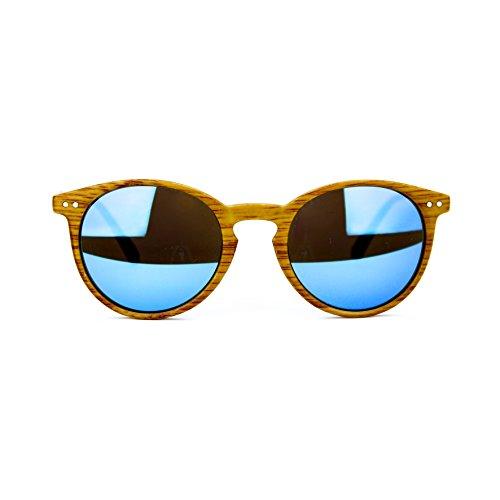 occhiali da sole da uomo in legno ray ban