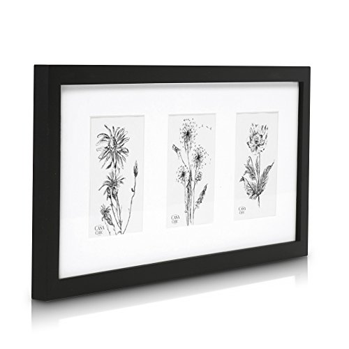 solid-wood-triple-frame-for-6x4-photos-perspex-front-frame-width-2cm-black